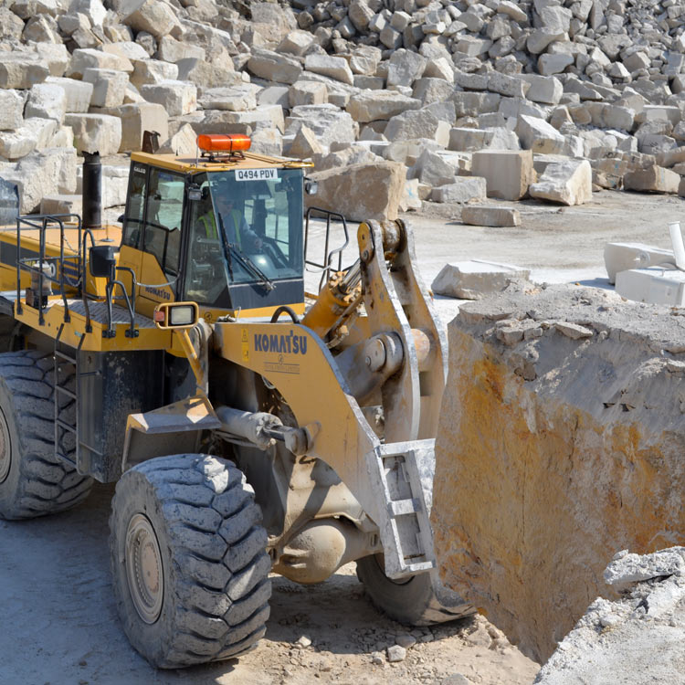 Portland stone quarrying