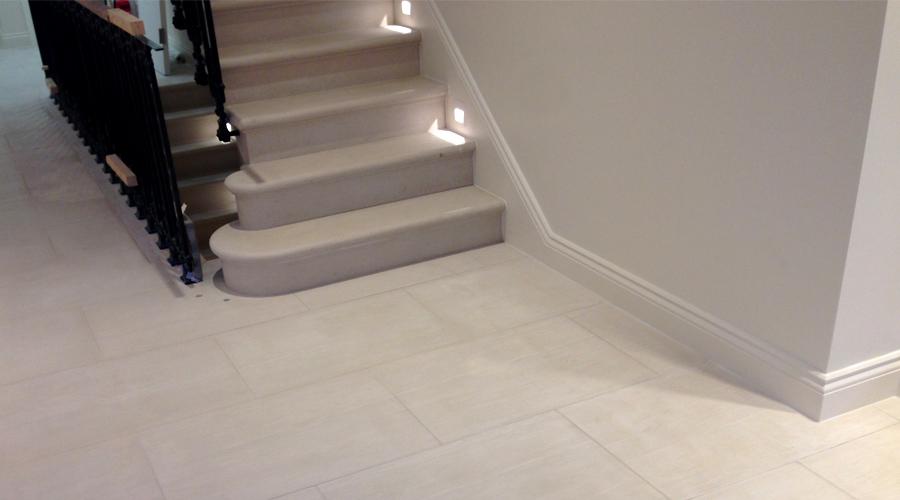 Portland limestone flooring