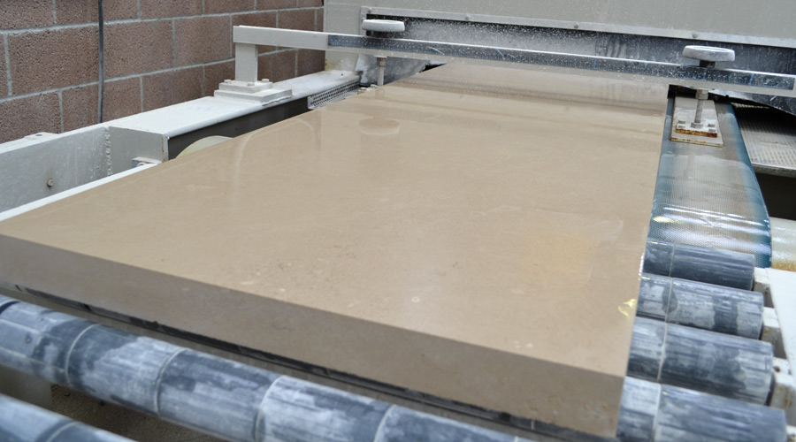 Portland limestone tile line
