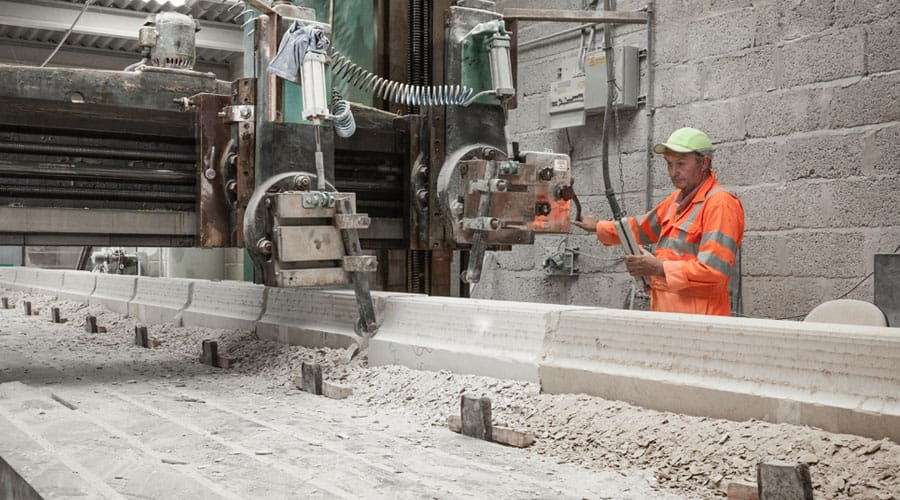 Portland stone profiling on planer machine