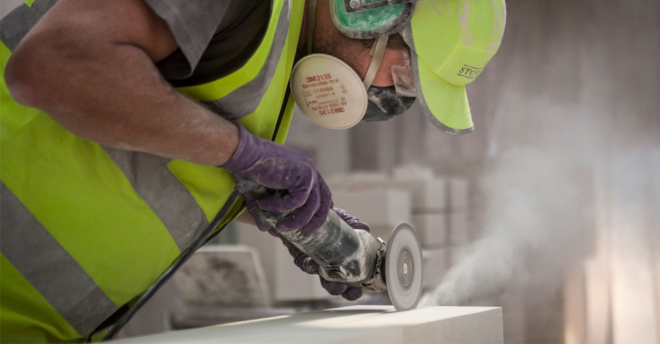 Portland stone masonry finishing