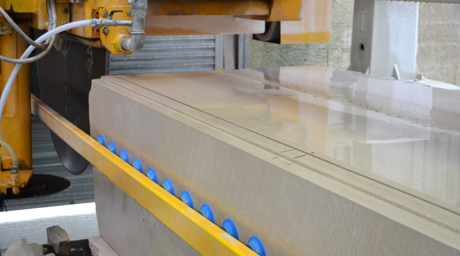 Portland limestone ashlar and tile line