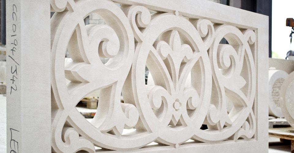 Bespoke Portland stone carving